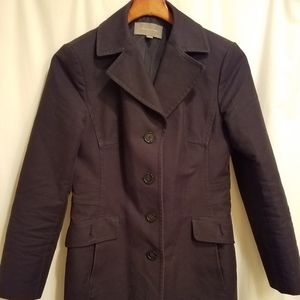 Ann Taylor Navy Blue Trench Coat